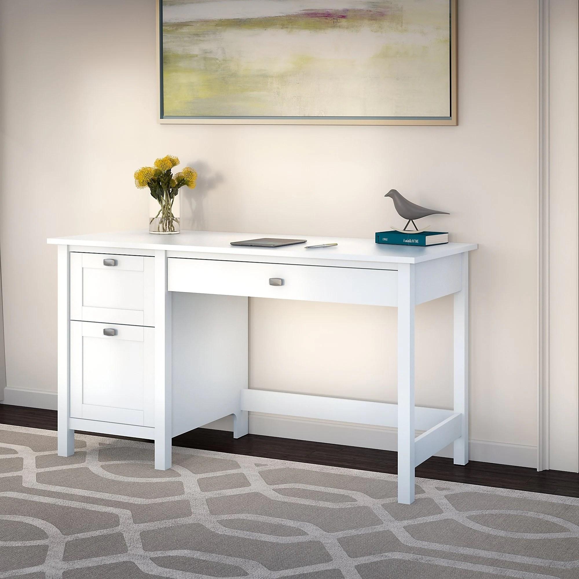 Copper Grove Rustavi Computer Desk With Drawers In Pure White Overstock 12796704