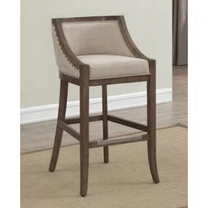 Shop for Memphis 30-inch Brown Birch and Fabric Bar Stool by Greyson Living. Get free shipping at Overstock - Your Online Furniture Outlet Store! Get 5% in rewards with Club O! - 12799953