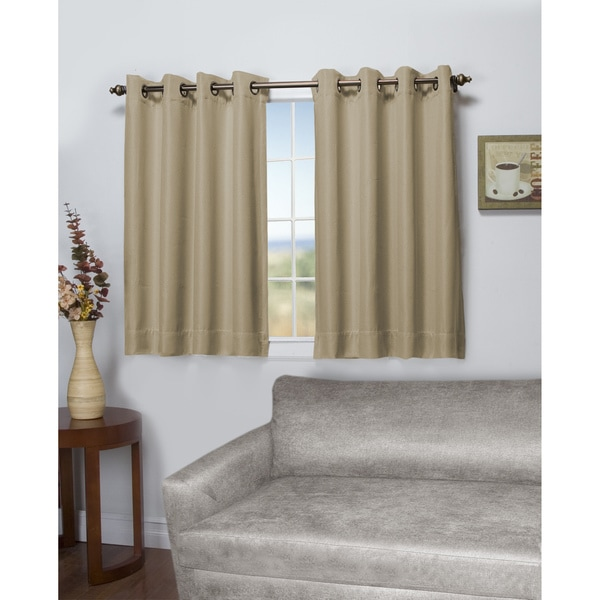 Tacoma Latte Double Blackout Short Length Grommet Curtain Panel Free Shipping On Orders Over