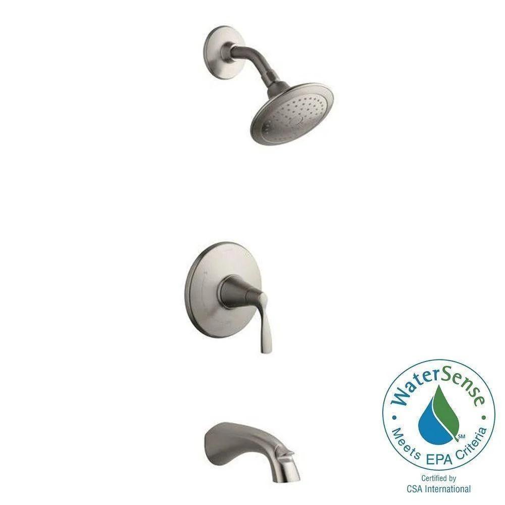 kohler mistos single handle 1 spray tub and shower faucet in brushed nickel