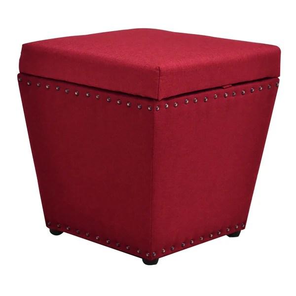 Small Fabric Storage Ottoman