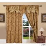 Shop Elegant Comfort Luxury Jacquard Rod Pocket 54 Inch Window Curtain Panel Pair On Sale Overstock 13024955