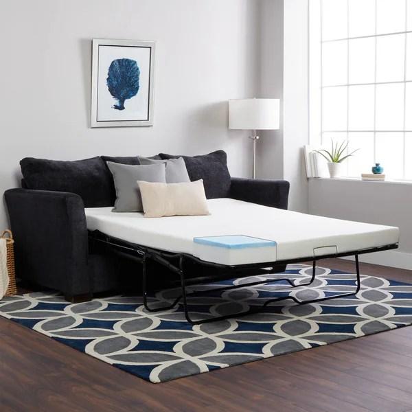 Select Luxury Queen Size Sofa Sleeper Replacement Gel Memory Foam Mattress Only