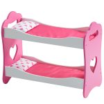Wooden 18 Inch Doll Furniture Princess 18 Doll Double Bunk Bed White Olivias Little World Toys Games Dolls Accessories