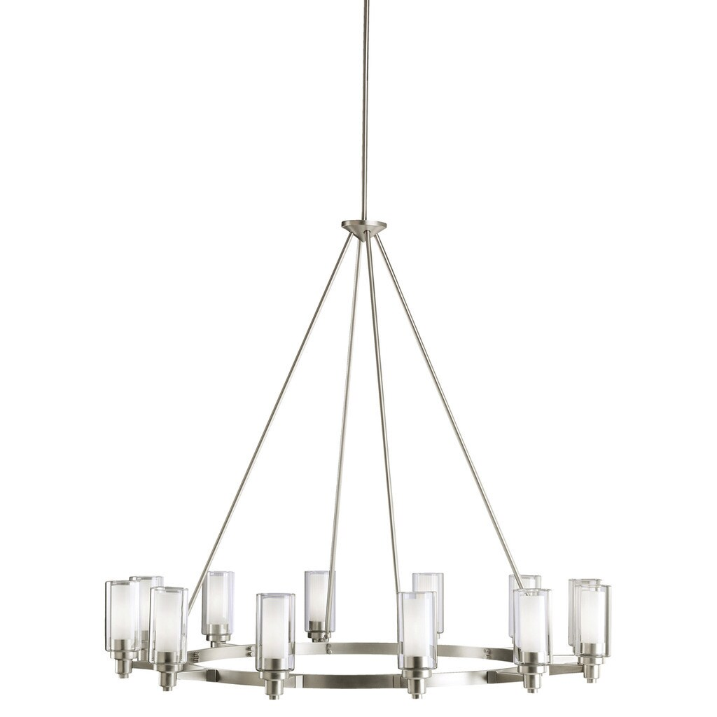 kichler lighting circolo collection 12 light brushed nickel chandelier
