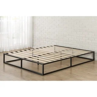 Priage 10 Inch Queen Size Metal Platform Bed