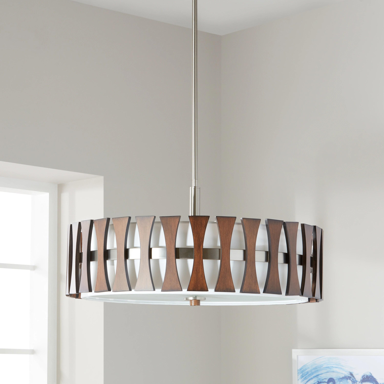 kichler lighting cirus collection 4 light auburn stained finish pendant semi flush mount