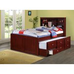 Donco Kids Bookcase Captains Dark Cappuccino Trundle Bed On Sale Overstock 13863817