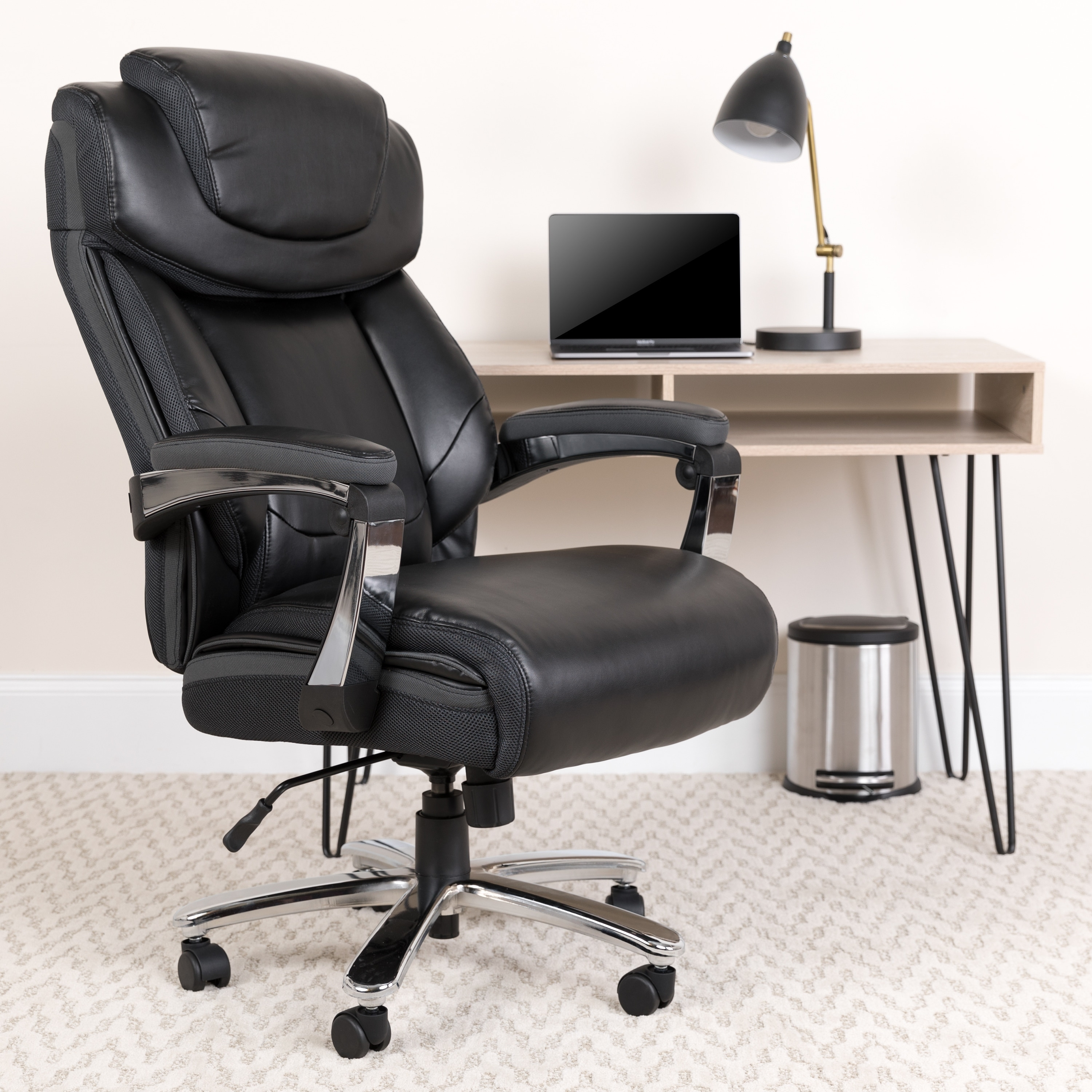 Business Industrial Chairs Stools 500 Lb Heavy Duty High Back Big And Tall Desk Executive Ergonomic Leather Chair Studio In Fine Fr