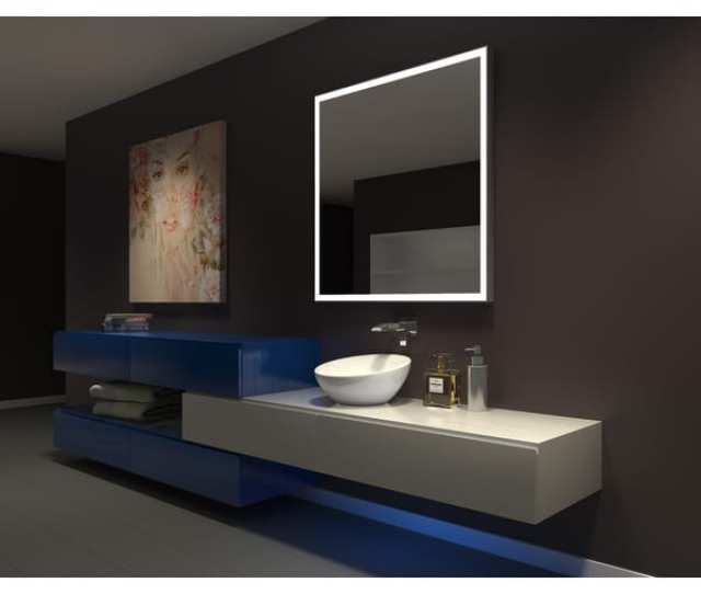 Shop Ib Mirror Dimmable Lighted Bathroom Mirror Galaxy 42 In X  K Free Shipping Today Overstock 14386977