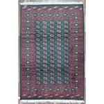 Finerugcollection Hand Knotted Signed Bukhara Green Wool Oriental Rug
