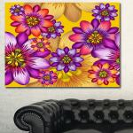 Shop Black Friday Deals On Designart Passion Flowers Pattern Modern Floral Large Canvas Art Multi Color Overstock 14557588
