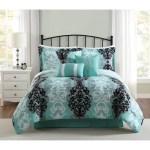 Studio 17 Downton 7 Piece Comforter Set Black Grey Aqua On Sale Overstock 14723323
