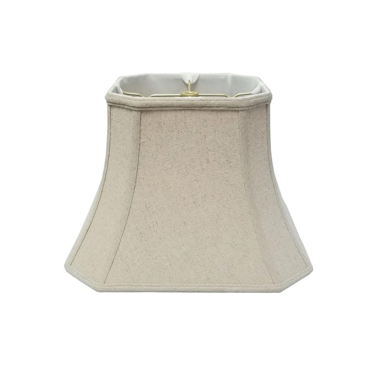 Shop Royal Designs Square Cut Corner Bell Linen Cream Lamp Shade 10 X 18 X 14 5 On Sale Overstock 14804883