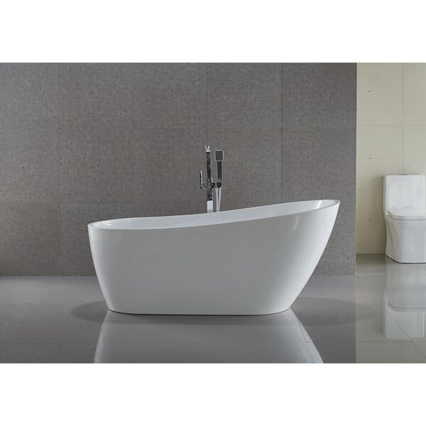 Shop ANZZI Trend Series 558 Ft Freestanding Bathtub In