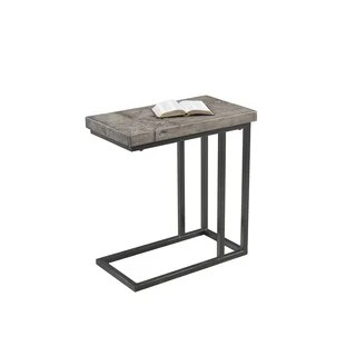 Grey Marble Charcoal Metal Snack Table Free Shipping
