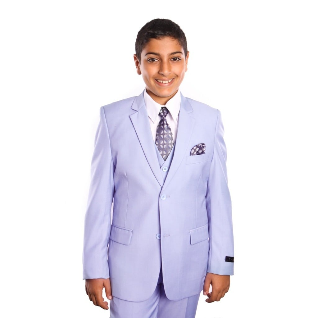 tazio boys suits solid shine 5 piece boys set for all ocassions