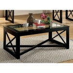Furniture Of America Lai Contemporary Black Solid Wood Coffee Table Overstock 15174548