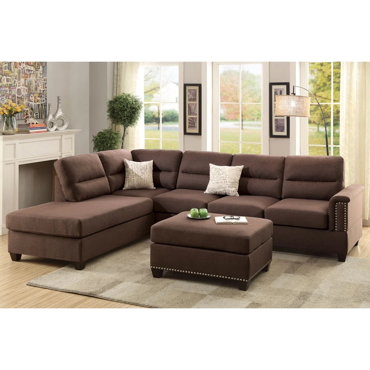 Collections Of Chaise Sectional With Ottoman Dahba