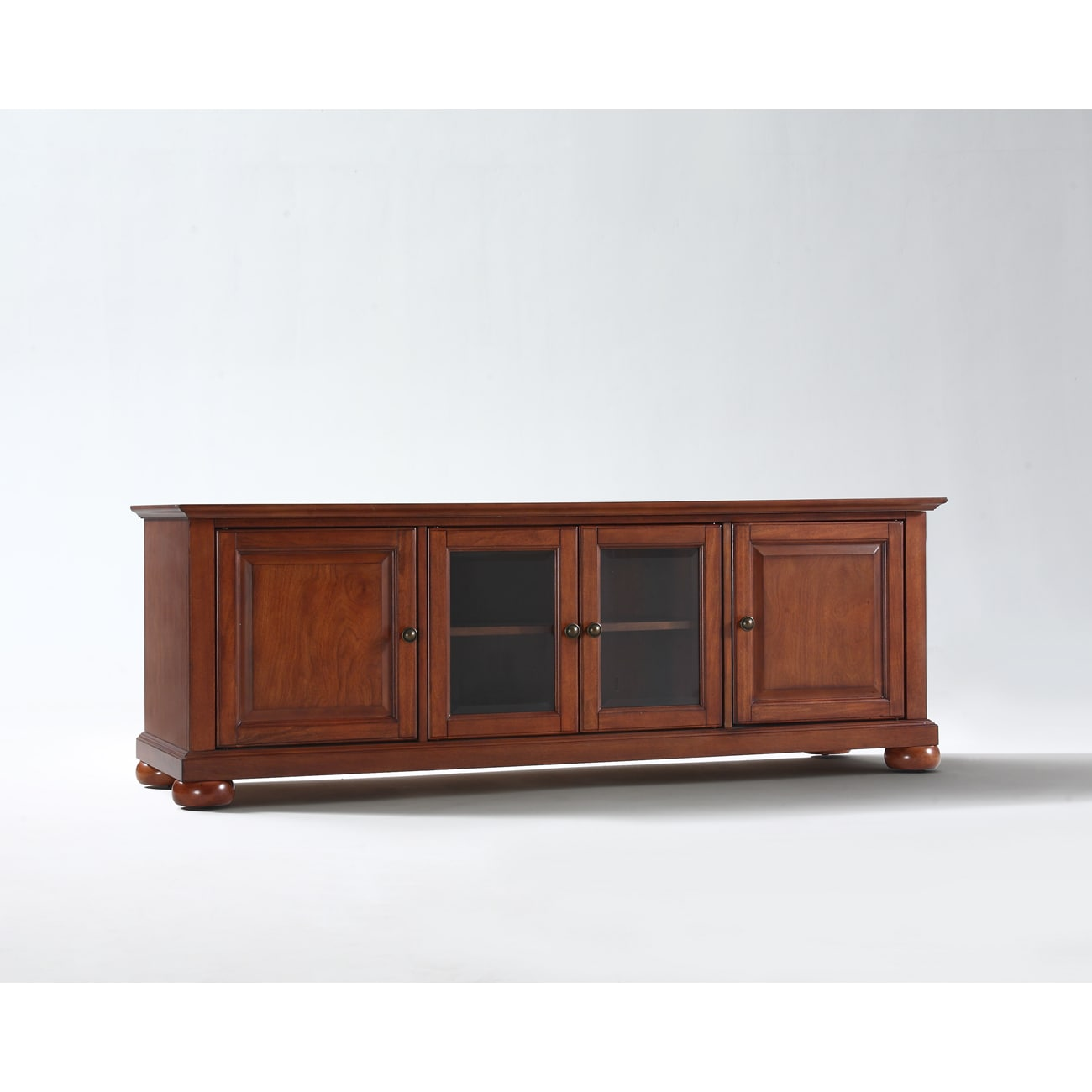 alexandria classic cherry 60 inch low profile tv stand