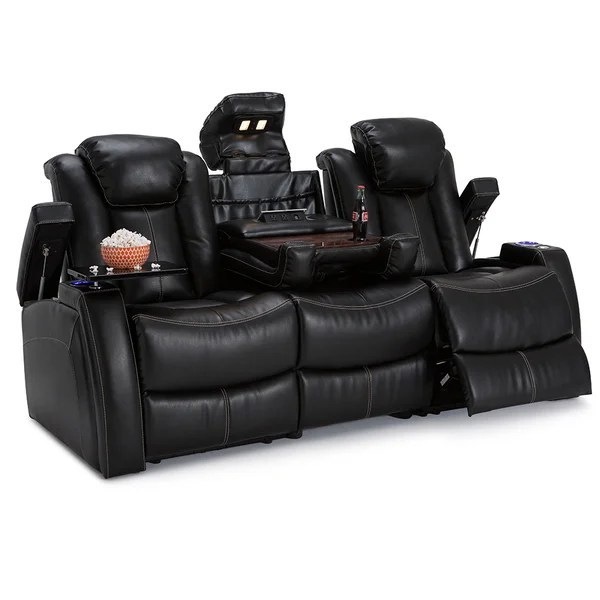 Lane Omega Leather Gel Home Theater Seating Power Recline Sofa W  sc 1 st  Aecagra.org : home theater power recliner - islam-shia.org