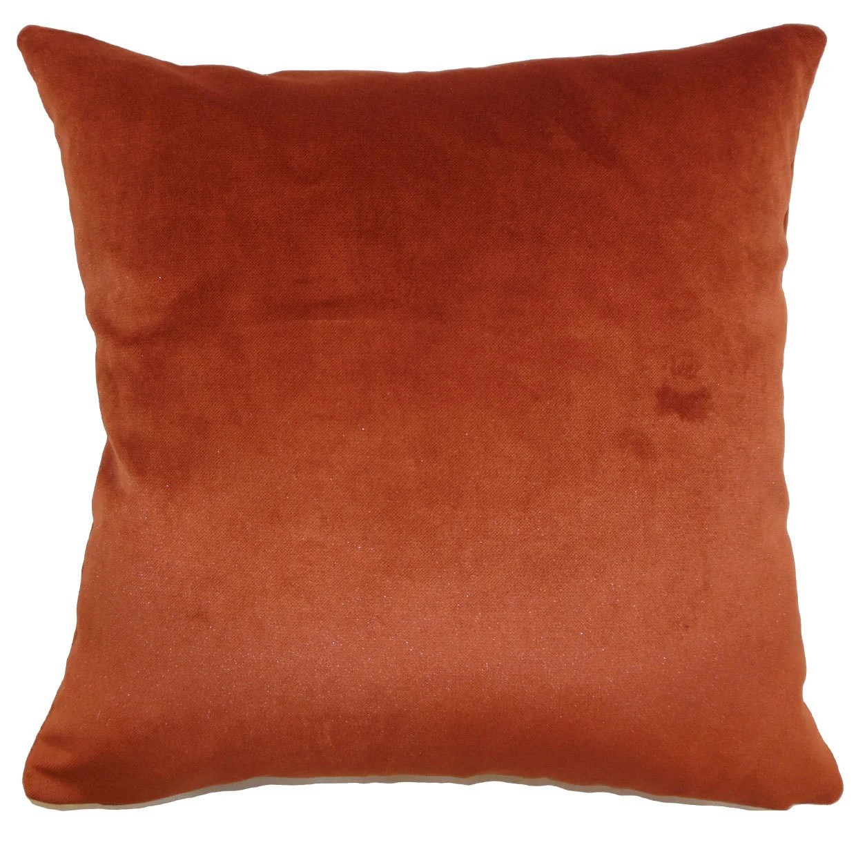 juno solid 24 x 24 down feather throw pillow rust