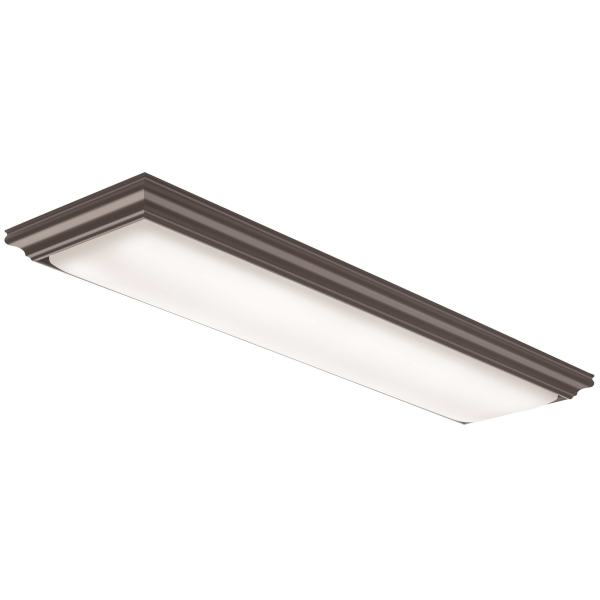 Buy Lithonia Lighting Flush Mount Lighting Online at Overstock com     Lithonia Lighting FMFL 30840 VANL BZ Vanderlyn 4 ft  LED Flushmount 4000K