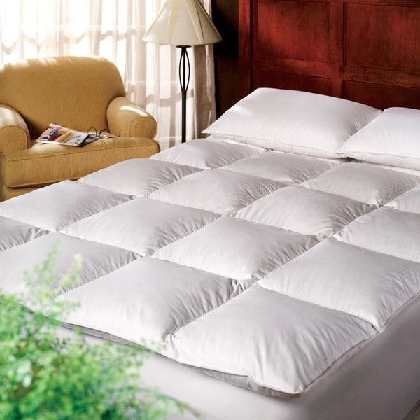 1221 Bedding Cotton 3 Inch Down Alternative Fiber Bed Mattress Topper