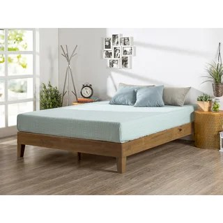 Priage Deluxe Solid Wood Platform Bed Rustic Pine