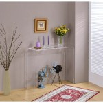 Lucite Clear Acrylic Console Table Overstock 16150611