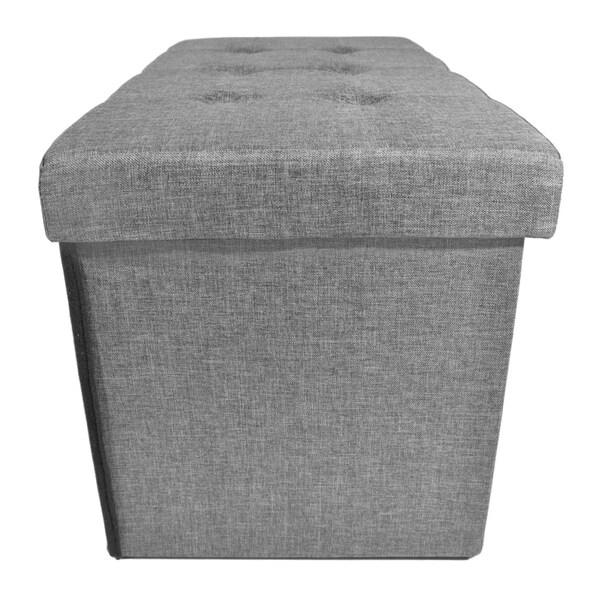 grey linen 30 inch x 15 inch x 16 inch
