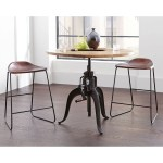 Industrial Style Leather Saddle Seat Bar Stools Set Of 2 Overstock 16281030