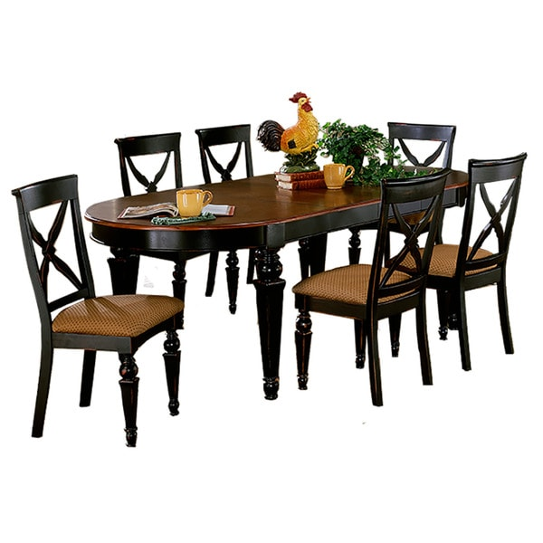 5 Piece Dining Set Pedestal Table Black