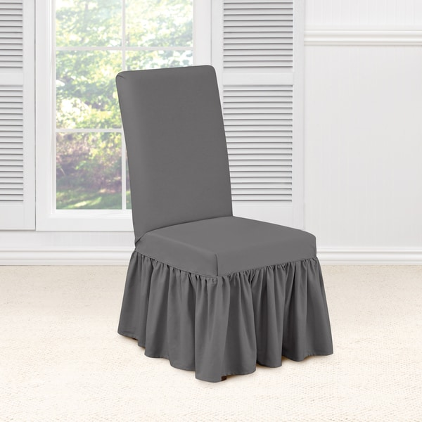 Shop Sure Fit Essential Twill Dining Room Chair Slipcover