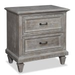 Lancaster Traditional Dovetail Grey Drawer Nightstand