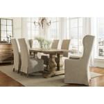 Marlett Skirted Linen Parsons Chair Set Of 2