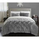 Chic Home Kaiser 7 Piece Comforter Ultra Plush Micro Mink Bedding Set Grey Overstock 17433407