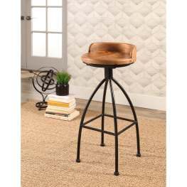 Abbyson Lamar Industrial Iron Bar Stool