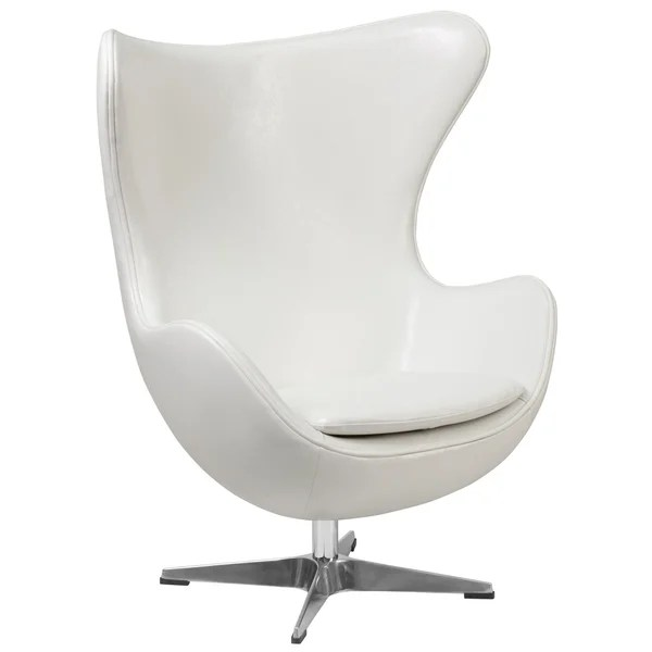 All White Wing Back Chairs
