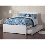 Metro Full Platform Bed With Matching Foot Board With Twin Size Urban Trundle Bed In White Overstock 17833754