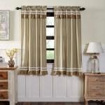 Farmhouse Curtains Vhc Kendra Stripe Panel Pair Rod Pocket Cotton Striped Lace Cotton Burlap Overstock 17846019
