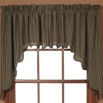 Black Primitive Kitchen Curtains Vhc Kettle Grove Plaid Swag Pair Rod Pocket Cotton Swag 36x36x16 Overstock 17926285