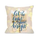 Let The Light Shine Bright Yellow Throw 16 Or 18 Inch Throw Pillow By Obc On Sale Overstock 18007528