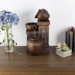 Home Furniture Diy Home Decor Water Fountain Rustic Vase