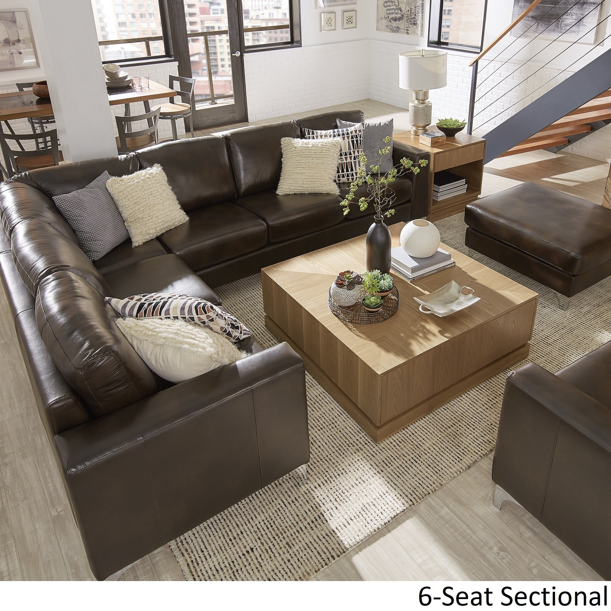 bastian aniline leather dark brown l shaped sectionals by inspire q modern