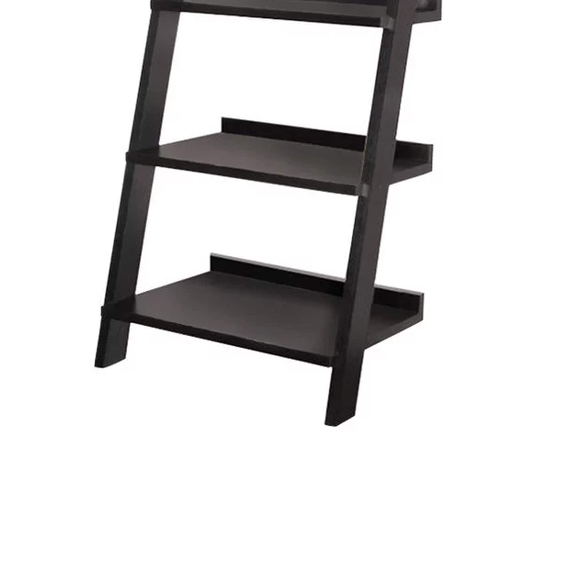 Exhibiting Modern Ladder Bookcase With Five Shelves Black