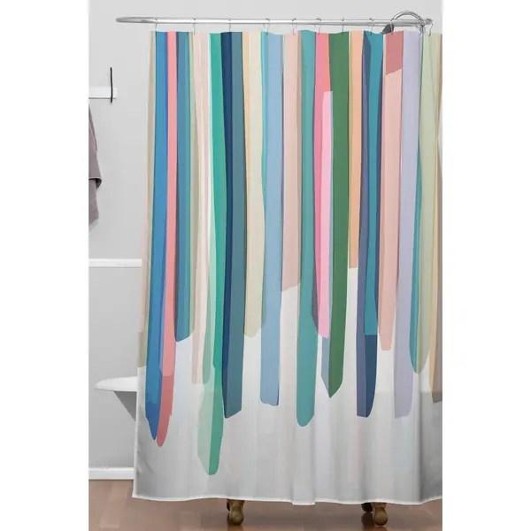mareike boehmer pastel stripes 2 shower curtain