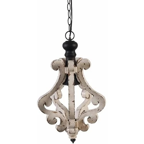 Wooden Home Perth Chandelier White