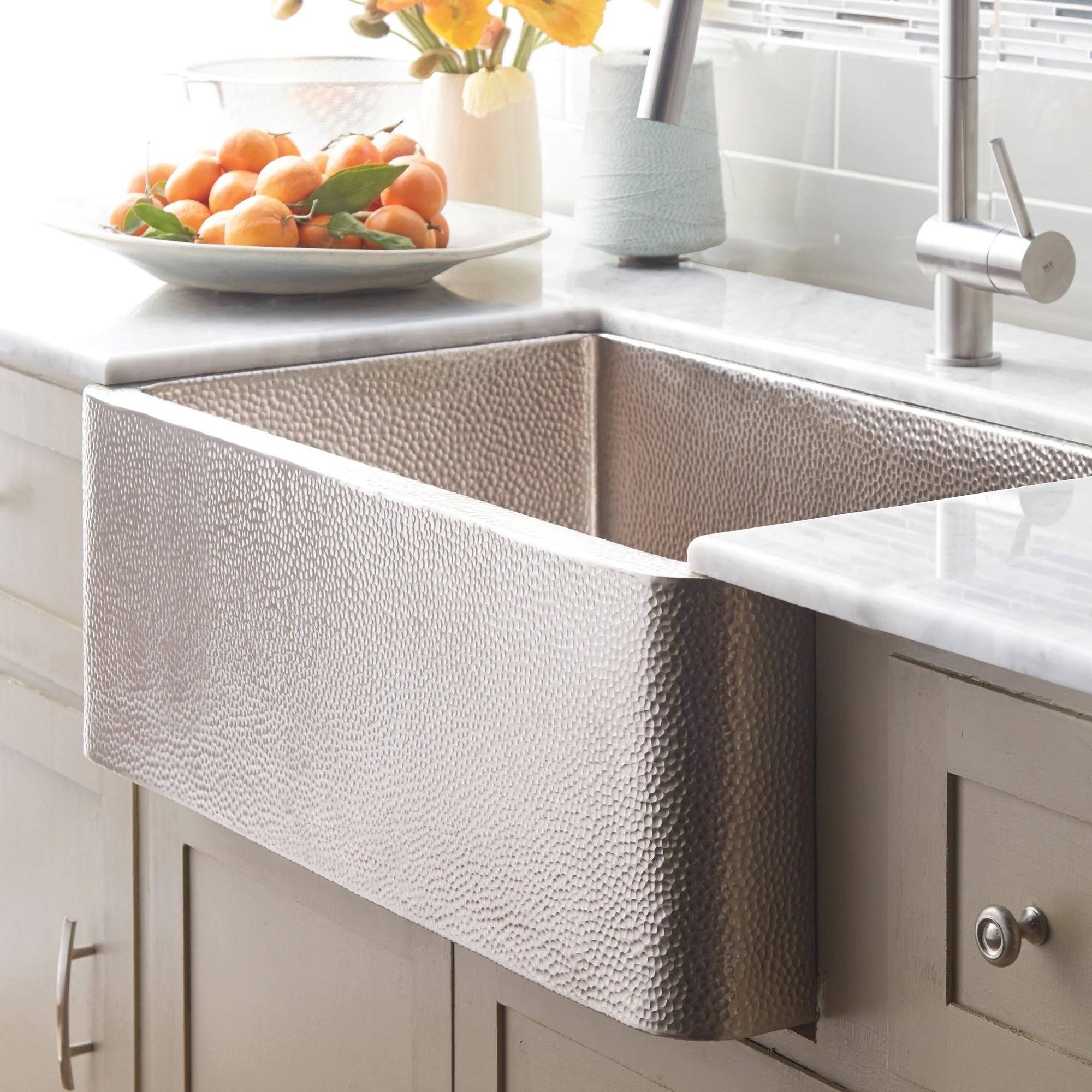 farmhouse brushed nickel 30 inch undermount apron front kitchen sink 30 x 18 5 x 10