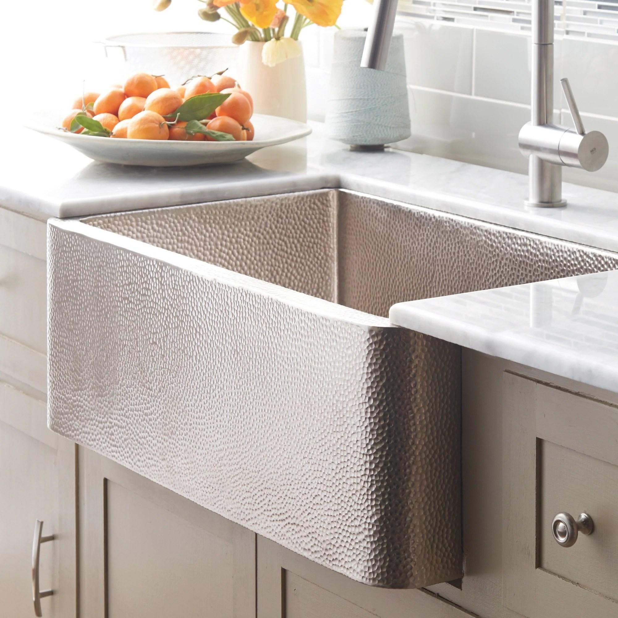 farmhouse brushed nickel 33 inch kitchen sink 33 x 22 x 10 5